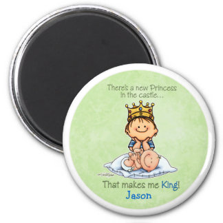 Big Brother of sister 6 Cm Round Magnet