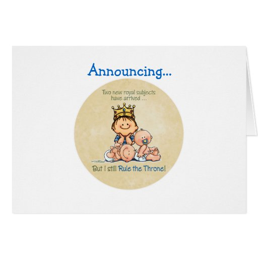 Big Brother of Twins Greeting Card