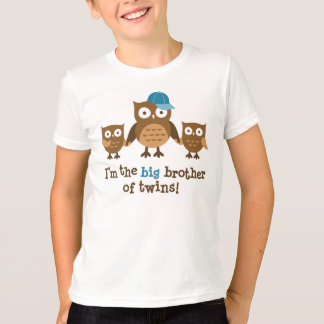 Big Brother of Twins - Mod Owl t-shirts for boys