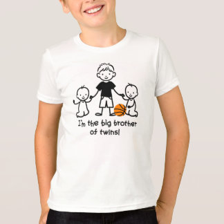 Big Brother of Twins - Stick Figures T-Shirt