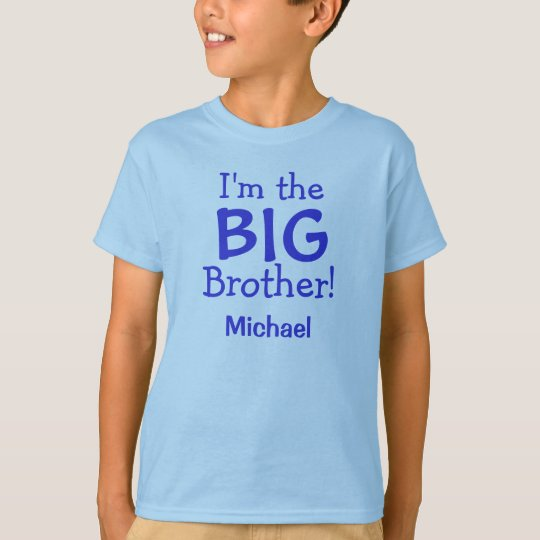 Big Brother Personalised Kids T-Shirt