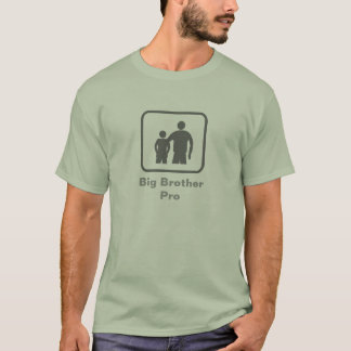 Big Brother Pro (with younger brother) (Grey Logo) T-Shirt