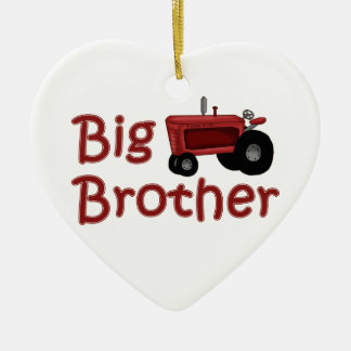 Big Brother Red Tractor Christmas Ornament