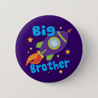 Big Brother Rocket Ship Sibling Sets 6 Cm Round Badge