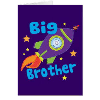 Big Brother Rocket Ship Sibling Sets Card