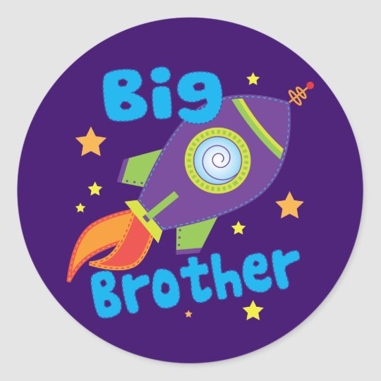 Big Brother Rocket Ship Sibling Sets Classic Round