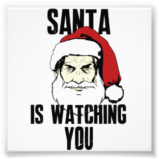 Big Brother Santa Claus Is Watching You Photo Print