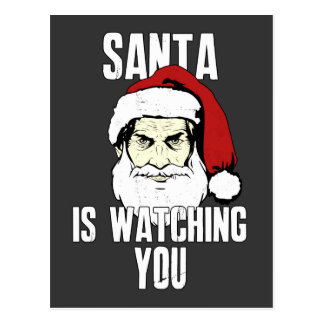 Big Brother Santa Claus Is Watching You Post Card