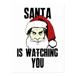Big Brother Santa Claus Is Watching You Postcards