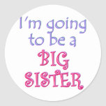 Big Brother/Sister Round Stickers