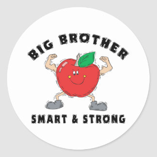 Big Brother Smart & Strong Round Sticker