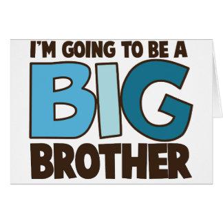 big brother t-shirt greeting card