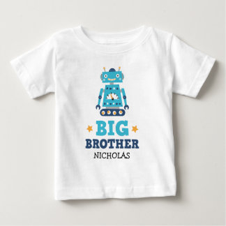 Big brother t-shirt with retro robot and name