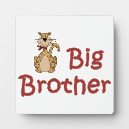 Big Brother Tabby Cat Plaque