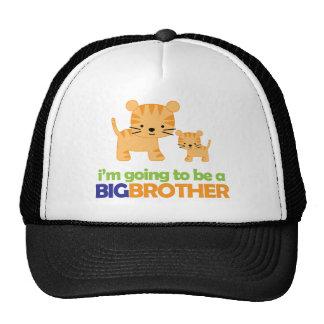 Big Brother Tiger T-shirt Pregnancy Announcement Mesh Hats