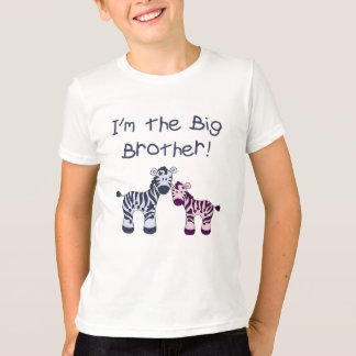 Big Brother (to a little sister) Zebra t-shirt