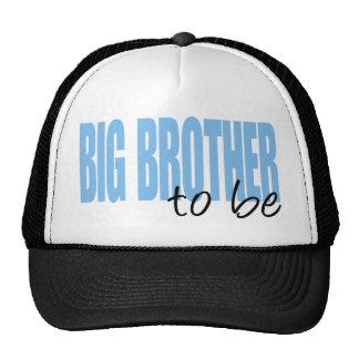 Big Brother To Be (Blue Block Font) Cap