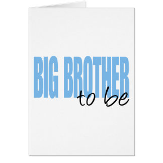 Big Brother To Be (Blue Block Font) Cards