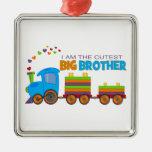 Big Brother -Train Silver-Colored Square Decoration
