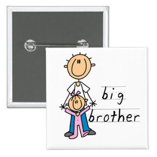 Big Brother with Baby Sister Tshirts and Gifts 15 Cm Square Badge