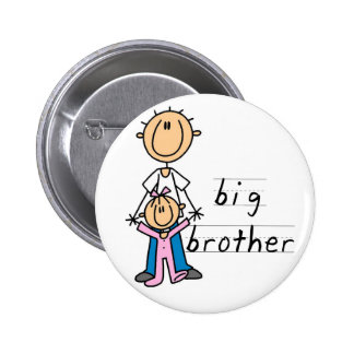 Big Brother with Baby Sister Tshirts and Gifts 6 Cm Round Badge