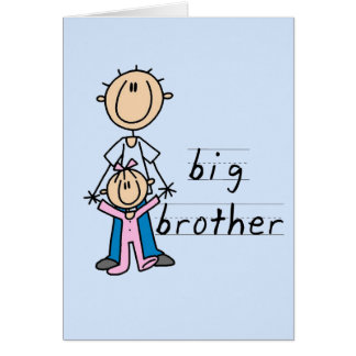 Big Brother with Baby Sister Tshirts and Gifts Greeting Card