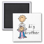 Big Brother with Baby Sister Tshirts and Gifts Fridge Magnets