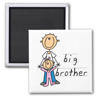 Big Brother with Baby Sister Tshirts and Gifts Square Magnet