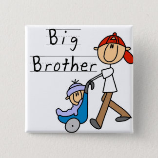 Big Brother With Little Brother 15 Cm Square Badge