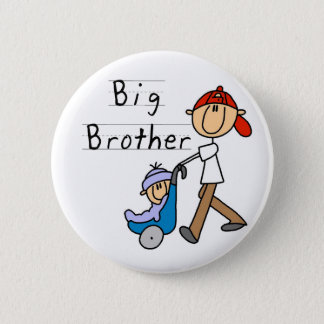 Big Brother With Little Brother 6 Cm Round Badge