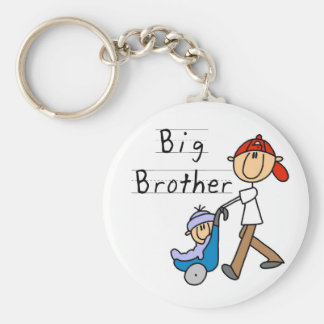 Big Brother With Little Brother Basic Round Button Key Ring