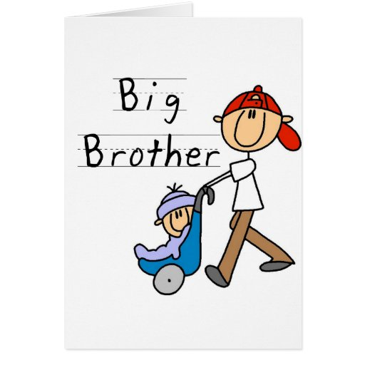 Big Brother With Little Brother Greeting Cards