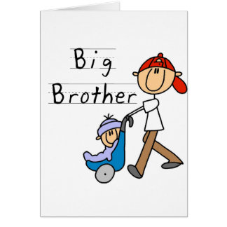 Big Brother With Little Brother Greeting Card