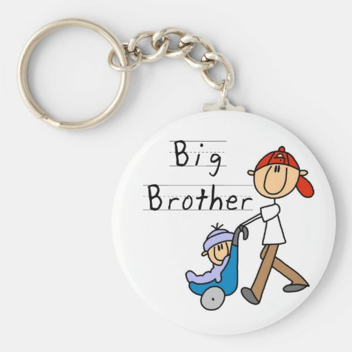 Big Brother With Little Brother Keychains