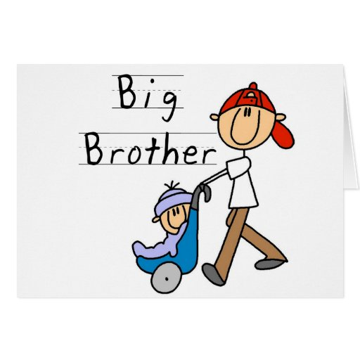 Big Brother with Little Brother Tshirts and Gifts Greeting Card