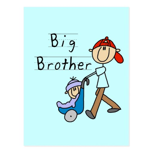 Big Brother with Little Brother Tshirts and Gifts Postcards