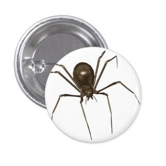 Big Brown 3D Halftone Spider 3 Cm Round Badge