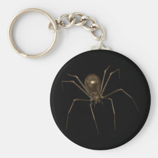 Big Brown 3D Halftone Spider Key Ring