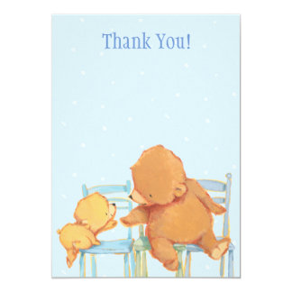 Big Brown Bear and Yellow Bear Thank You Card