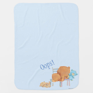 Big Brown Bear, Calico, & Floppy Share Two Chairs Baby Blanket