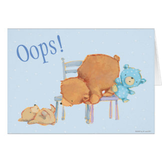 Big Brown Bear, Calico, & Floppy Share Two Chairs Card