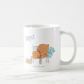 Big Brown Bear, Calico, & Floppy Share Two Chairs Coffee Mug