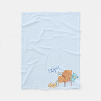 Big Brown Bear, Calico, & Floppy Share Two Chairs Fleece Blanket