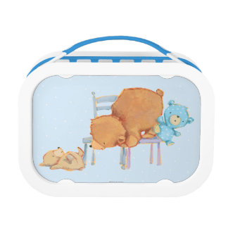 Big Brown Bear, Calico, & Floppy Share Two Chairs Lunch Box