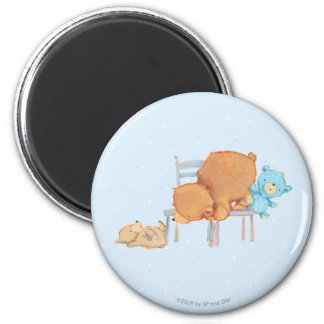 Big Brown Bear, Calico, & Floppy Share Two Chairs Magnet