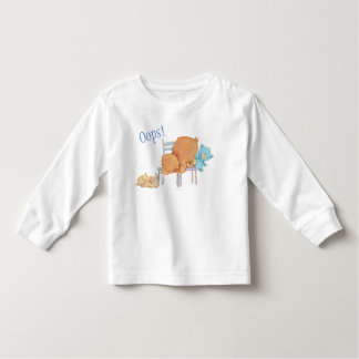 Big Brown Bear, Calico, & Floppy Share Two Chairs Toddler T-Shirt