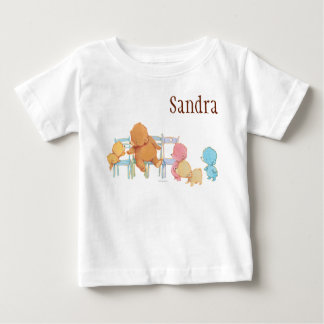 Big Brown Bear & Friends Share Four Chairs Baby T-Shirt
