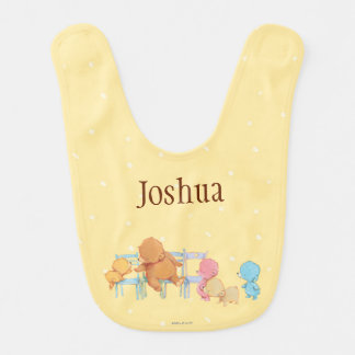 Big Brown Bear & Friends Share Four Chairs Bib
