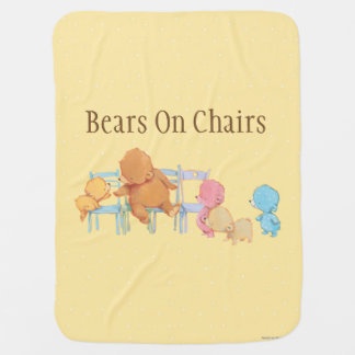 Big Brown Bear & Friends Share Four Chairs Buggy Blankets