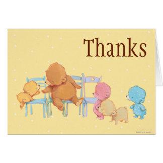 Big Brown Bear & Friends Share Four Chairs Card
